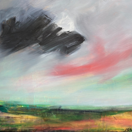 'Veil of light' - an abstract landscape painting by Louise Turnbull