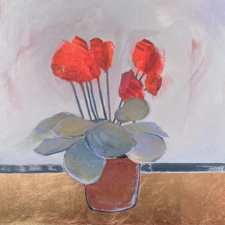 'Cyclamen celebration #5' by Louise Turnbull