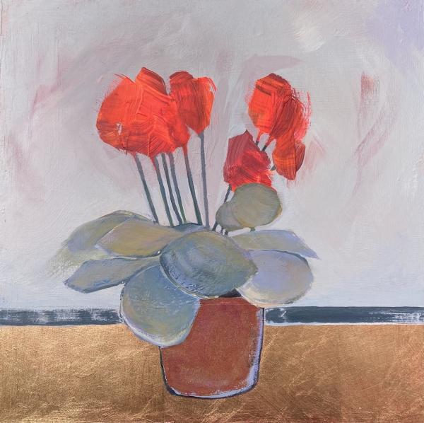 'Cyclamen celebration #5' by Louise Turnbull