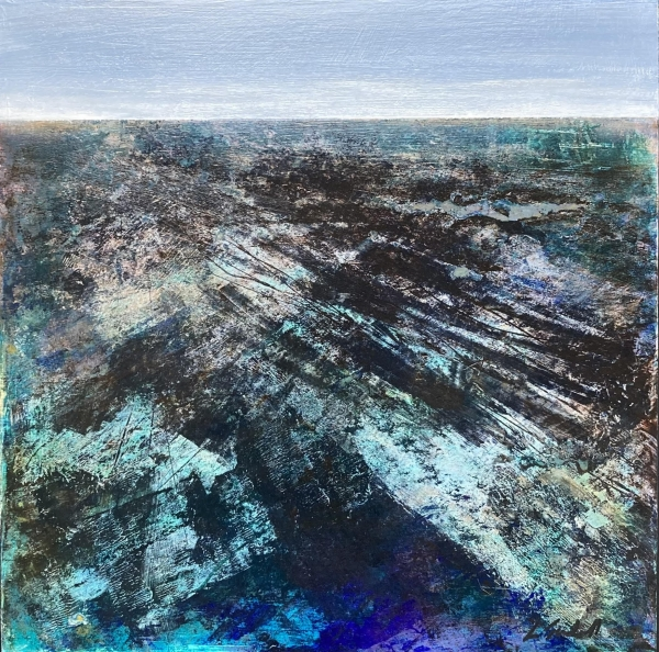 Marine strata - abstract landscape by Louise Turnbull